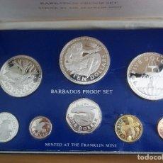 Monedas antiguas de Oceanía: SET MONEDAS DE BARBADOS 1975 PROOF. Lote 135764574