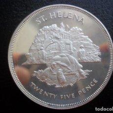 Monedas antiguas de Oceanía: 25 PENCE ISLA SANTA ELENA 1977 PLATA PROOF . Lote 135798486