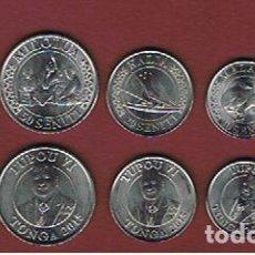 Monedas antiguas de Oceanía: TONGA : 2015. SERIE/SET COMPLETA. 5 MONEDAS. SC.UNC. KM.NEW 2015. Lote 137366222