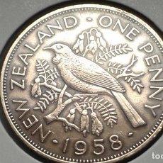 Monedas antiguas de Oceanía: NUEVA ZELANDA 1 PENNY /PENIQUE 1958. Lote 140238574