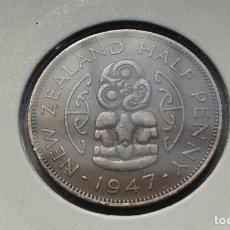Monedas antiguas de Oceanía: NUEVA ZELANDA 1/2 PENNY /PENIQUE 1947. Lote 140240014