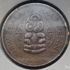 Monedas antiguas de Oceanía: NUEVA ZELANDA 1/2 PENNY /PENIQUE 1957. Lote 140240598
