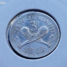 Monedas antiguas de Oceanía: NUEVA ZELANDA 3 PENIQUES 1962. Lote 140270290