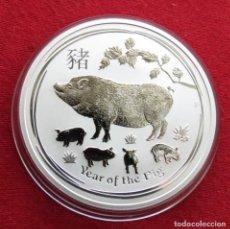 Monedas antiguas de Oceanía: AUSTRALIA 1 $ 2019 AÑO DEL CERDO. Lote 140319422
