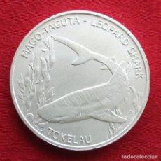 Monedas antiguas de Oceanía: TOKELAU 5 $ 2018 TIBURÓN LEOPARDO. Lote 140326102