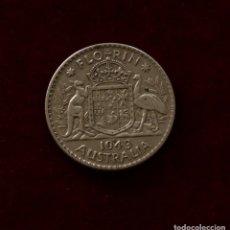Monedas antiguas de Oceanía: FLORIN 1943 PLATA AUSTRALIA. Lote 142700554