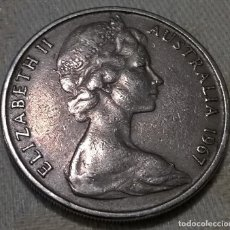 Monedas antiguas de Oceanía: MONEDA 20 CENTIMOS (CENTS). AUSTRALIA. 1967. CIRCULADA. Lote 143076118