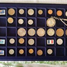 Monedas antiguas de Oceanía: M1OC - OCEANIA 25 MONEDAS + 1 LLAVERO MONEDA DE 4 PAISES. Lote 143078130