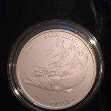 Monedas antiguas de Oceanía: 5 DOLLARS TOKELAU 2017 1 OZ PLATA 999 BARRACUDA. Lote 147649958