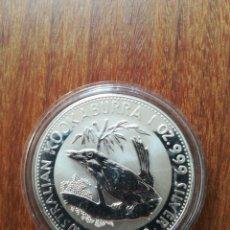 Monedas antiguas de Oceanía: 1 DOLLAR AUSTRALIA 1992 PLATA 999 1 0Z 31GR KOOKABURRA. Lote 147681506