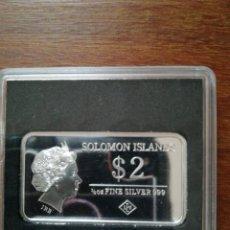 Monedas antiguas de Oceanía: 2 DOLLARS 2015 SOLOMON ISLANDS 1/2 OZ 999 PLATA. Lote 147719126