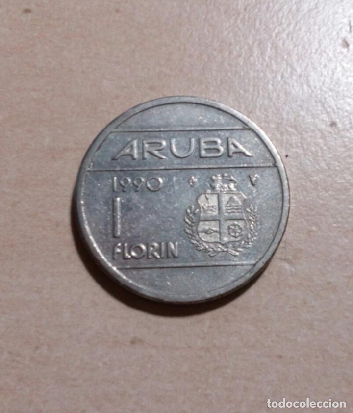 FLORIN.ARUBA.1990. (Numismática - Extranjeras - Oceanía)