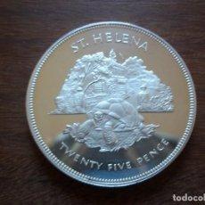 Monedas antiguas de Oceanía: 25 PENCE ISLA SANTA ELENA 1977 PLATA PROOF. Lote 148031554