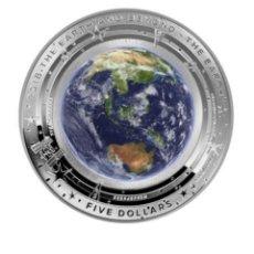 Monedas antiguas de Oceanía: AUSTRALIA 2018 TIERRA Y MÁS ALLÁ 1 OZ OVALADA. AGOTADA. Lote 148293610