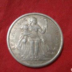 Monedas antiguas de Oceanía: 1 FRANCO DE LA POLINESIA FRANCESA 1975. Lote 151312385