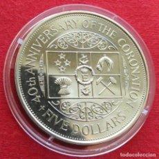 Monedas antiguas de Oceanía: NUEVA ZELANDA 5 $ 1993 CORONACIÓN NEW ZEALAND. Lote 151332462