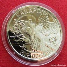 Monedas antiguas de Oceanía: NUEVA ZELANDA 5 $ 2009 KAKAPO AVES NEW ZEALAND. Lote 151336146