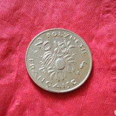 Monedas antiguas de Oceanía: 20 FRANCOS DE POLINESIA FRANCESA 1973. Lote 151376914