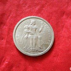 Monedas antiguas de Oceanía: 1 FRANCO DE LA POLINESIA FRANCESA 1965. Lote 151377084