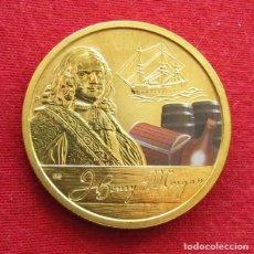 Monedas antiguas de Oceanía: TUVALU 1 $ 2011 PIRATA MORGAN, VELERO. Lote 151383542