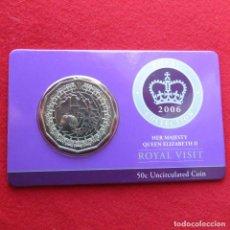 Alte Münzen aus Ozeanien - Australia 50 cent 2006 visita real folder - 155533854