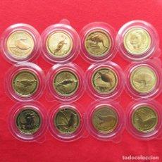 Monedas antiguas de Oceanía: AUSTRALIA 12 X 1 $ 2008 FAUNA ANIMALES AVES PECES. Lote 156986906