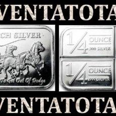 Monedas antiguas de Oceanía: LINGOTE VINTAGE DE PLATA PESO 44 GRA ( HOMBRES MONTADOS EN DILIGECIA TIRADA POR CABALLOS ) Nº14. Lote 158545490