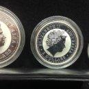 Monedas antiguas de Oceanía: LOTE DE MONEDAS DE DOLARES DE AUSTRALIA, 8, 2 Y 1 DOLAR, 2005, PLATA 999 PROF, SON 8 ONZAS EN TOTAL. Lote 160695942