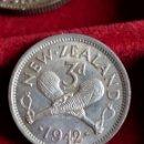 Monedas antiguas de Oceanía: MONEDA PLATA NUEVA ZELANDA. 3 PENCE 1942. KM#7.. Lote 160714758