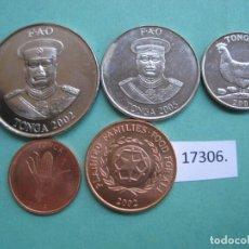Alte Münzen aus Ozeanien - lote 5 monedas Tonga, 1, 2, 5, 10 y 20 cts. ,2012 - 161599790