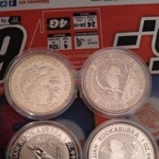 Monedas antiguas de Oceanía: 4 ONZAS COLECCIÓN KOOKABURRA 1990,1991,1992,1993. Lote 162391996