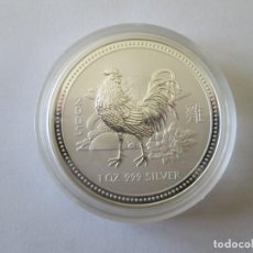 Monedas antiguas de Oceanía: AUSTRALIA * 1 DOLAR 2005 * SERIE LUNAR GALLO * PLATA. Lote 164763450