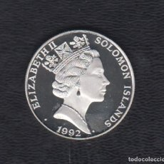 Monedas antiguas de Oceanía: ISLAS SALOMÓN. AÑO 1992. 10 DOLARES DE PLATA OLIMPIADA 1992.. Lote 167721708