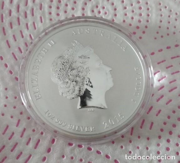 Monedas antiguas de Oceanía: Australia 2015 1 Dolar 1 Onza Plata Pura 9999 - La cabra - Espectacular moneda - Foto 2 - 171343760