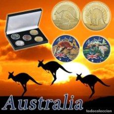 Monedas antiguas de Oceanía: ESTUCHE 5 MONEDAS AUSTRALIA SIN CIRCULAR. Lote 171723650