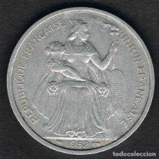 Monete antiche di Oceania: [CF7760] OCEANÍA FRANCESA 1952, 5 FRANCOS (VF). Lote 172374267