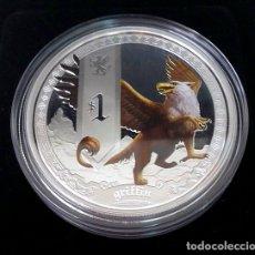Monedas antiguas de Oceanía: 1 OZ DE PLATA PURA DE CRIATURAS MITOLOGICAS, EL GRYPHO. Lote 173894762