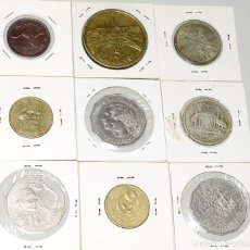 Monedas antiguas de Oceanía: AUSTRALIA, 9 MONEDAS: 1/2 PENNY - 1 FLORIN PLATA (2) - 1 DOLAR (2) - 5 DÓLARES - 50 DENTAVOS (3) . Lote 173945254