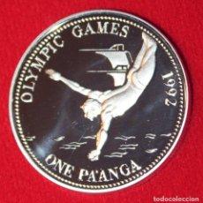 Monedas antiguas de Oceanía: TONGA 1 PAANGA PLATA 1991 JUEGOS OLÍMPICOS BARCELONA 92 SILVER. Lote 173999215