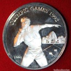 Monedas antiguas de Oceanía: SAMOA I SISIFO 10 DÓLARES 1991 PLATA JUEGOS OLÍMPICOS BARCELONA 92 SILVER. Lote 173999242