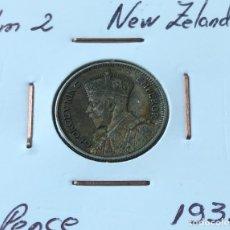 Monedas antiguas de Oceanía: 6 PENCE DE PLATA DE NUEVA ZELANDA DE 1933. Lote 174145704