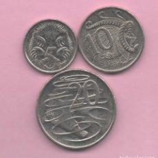 Monedas antiguas de Oceanía: AUSTRALIA - LOTE 3 MONEDAS. Lote 174427474