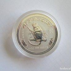 Monedas antiguas de Oceanía: AUSTRALIA * 1 DOLAR 2004 * SERIE LUNAR MONO * PLATA. Lote 174446969
