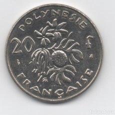 Monedas antiguas de Oceanía: POLINESIA - 20 FRANC. Lote 199459910