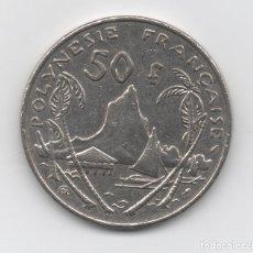 Monedas antiguas de Oceanía: POLINESIA - 50 FRANC. Lote 199463475