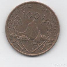 Monedas antiguas de Oceanía: POLINESIA - 100 FRANC. Lote 199463578