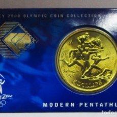 Monedas antiguas de Oceanía: AUSTRALIA 2000, 5 DOLLARS DE LAS OLIMPIADAS DE SIDNEY. MODERN PENTATHLON. LOTE 1868. Lote 176371513