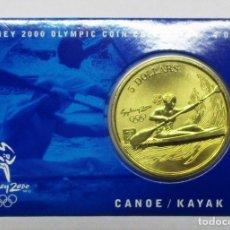 Monedas antiguas de Oceanía: AUSTRALIA 2000, 5 DOLLARS DE LAS OLIMPIADAS DE SIDNEY. CANOE / KAYAK. LOTE 1867. Lote 176372067