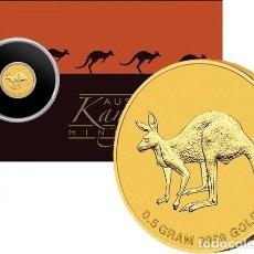 Monedas antiguas de Oceanía: AUSTRALIA - 2 DOLARES DE 2019 ORO PURO - MINI ROO EN TARJETA - DE PERTH MINT. Lote 178201663