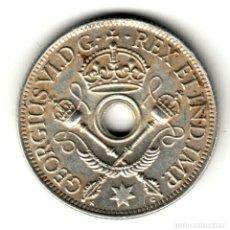 Monedas antiguas de Oceanía: NUEVA GUINEA 1 CHELIN PLATA 1938 REY JORGE V - NEW GUINEA 1 SHILLINGS SILVER. Lote 181163817